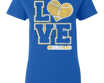 Love Rams Football Heart custom t shirt Free Shipping