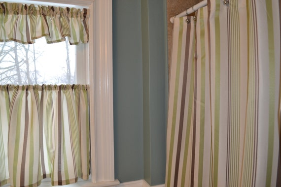 Items Similar To Bathroom Shower Curtain With Matching Window Curtain On Etsy
