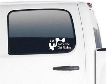 Id rather be dirt fishing metal detecting decal