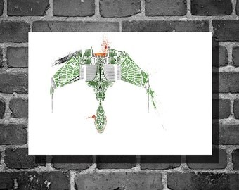 Star Trek poster Klingon vehicle movie poster minimalist poster star trek