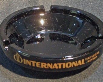 1 piece, International Hotel and casino, Las Vegas Ash Tray  , Date 1960's Never used in Very Fine condition.  772a