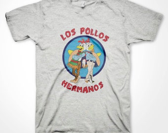 Los Pollos Hermanos T-shirt Breaking Bad Fan Chicken Brothers Heisenberg meth cook funny shirts