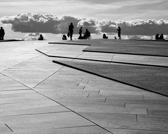 BW Photo - Oslo Opera House roof