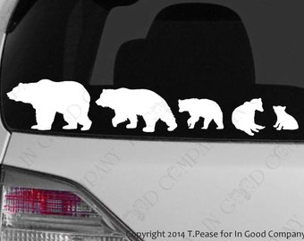 Bear Family Decal Etsy - Family car sticker decals