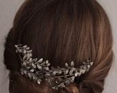Original Vintage 1910s Antique Art Deco golden German bridal leaf Tiara matching Boutonniere Wedding Flower Crown Myrtle Downton Filigree