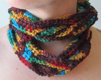 Lightweight Colorful Twisted Infinity Scarf