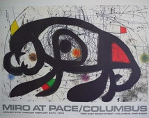 Joan Miró at Pace Original Collectible Exhibition Poster 1979 -  Vintage Limited edition