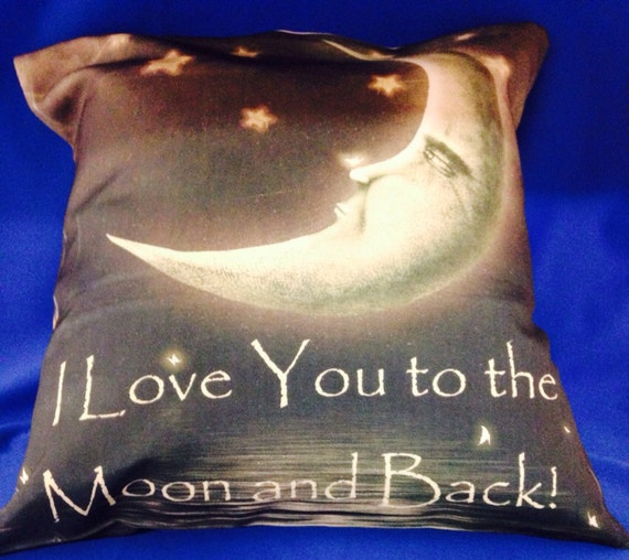 I Love You to the Moon and Back_Throw Pillow by CreatedbyMaMa