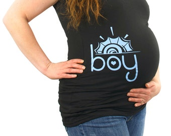 Boy Sun Maternity T-Shirt Clothes Top Clothing - side print  - Made From Bamboo - SUPER SOFT & Stretchy