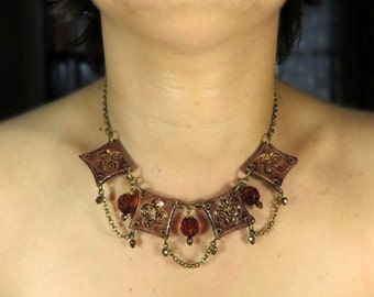 ceramic necklace in medieval style