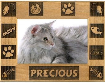 Engraved Frame for Cat Photo