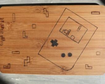 cutting board / cutting plate / cutting board bamboo/bamboo gameboy tetris