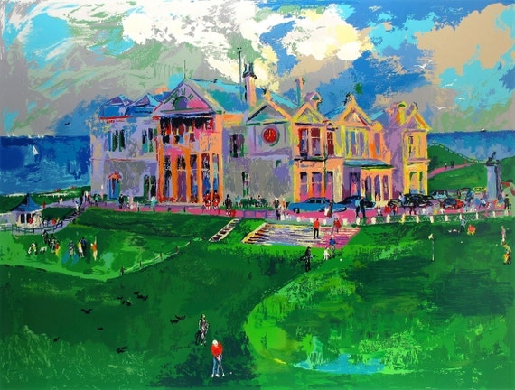 leroy neiman golf in the square oil painting by. Black Bedroom Furniture Sets. Home Design Ideas