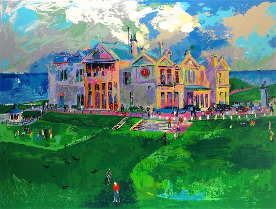 leroy neiman golf in the square oil painting by antsartworkoffice. Black Bedroom Furniture Sets. Home Design Ideas