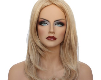 Classic Cap women Synthetic straight Medium Blonde mix wig HengFeng MI186   SKU: 10B43