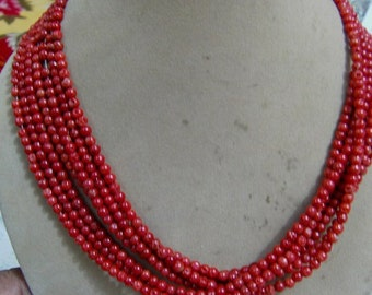 1  strand  Italian Coral Round    beads   15''