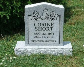 Cemetery Headstone- granite- multiple engraving options