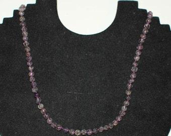 Amethyst Bead Necklace 6128