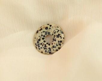 Donut - Jasper - cream yellow black gemstone jewelry Dalmantiner