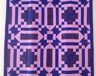 I Love Purple Lap Quilt