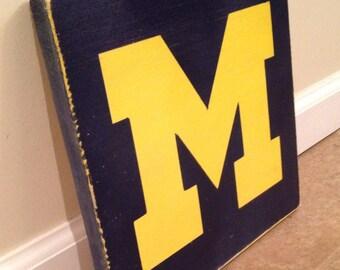 University of Michigan sign - wood wall art