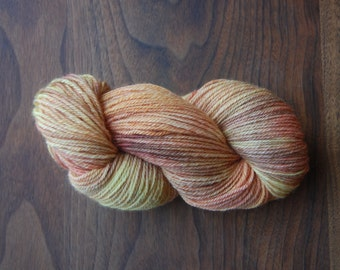 Alpaca Merino Yarn Hand Dyed in Berry Creamsicle