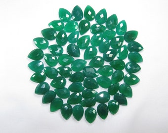 Loose Natural Green Onyx Briolette Beads, 15*25mm Teardrop Briolettes