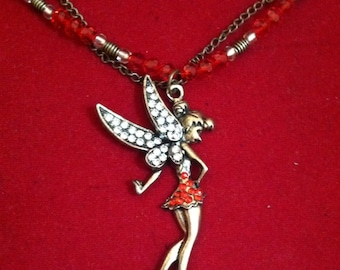 Steampunk TinkerBell Fairy Necklace