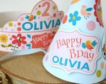 Fox Crowns and Birthday Hats, Customized Printable DIY