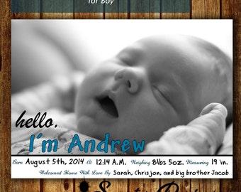 Simple Birth Announcement!