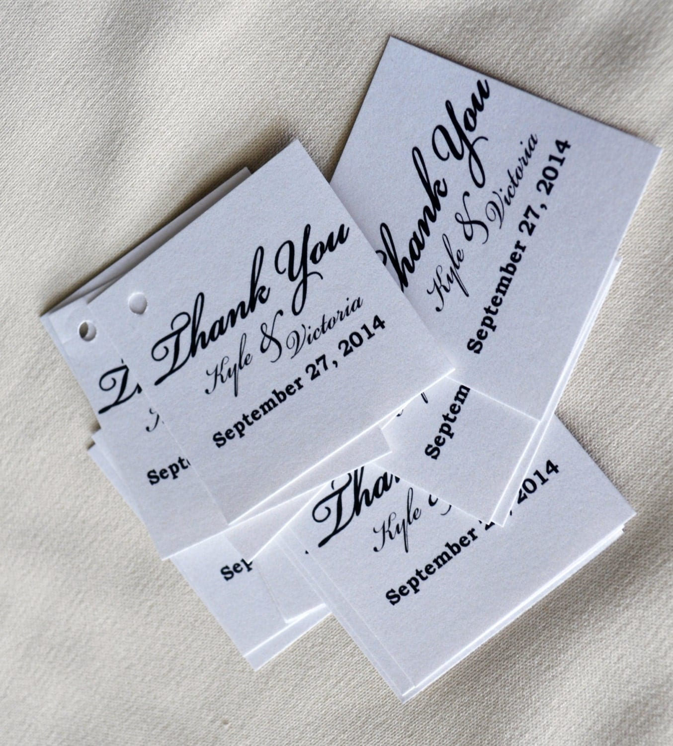 Wedding Favor Ribbon Tags : Wedding Favors Thank You Tags With holes Ribbons Optional