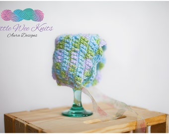 Newborn Crochet Bonnet - Photography Prop