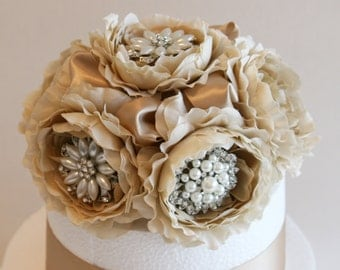 Champagne Wedding Cake Topper, Wedding centerpieces, Wedding Decorations, Country rustic Wedding, 50th Birthday Cake, Wedding Accessory