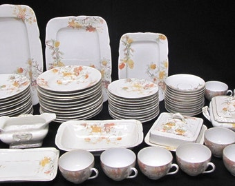 Beautiful Bawo Dotter Karlsbad BBD China Set 66 Pieces TOTAL Pre 1890