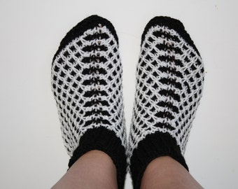 Hand knitted Adult slippers