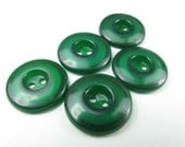 Emerald Green Plastic Buttons
