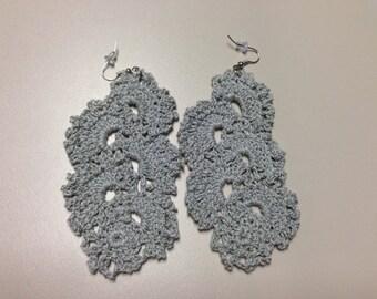 Silver Statement Earrings - Black Girl Magic - Crochet Jewelry - Earrings for Women - Boho Jewelry