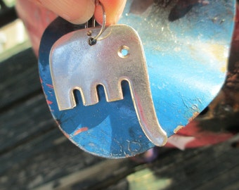 Handmade Elephant Keychain ~ Upcycled Fork Elephant Keychain