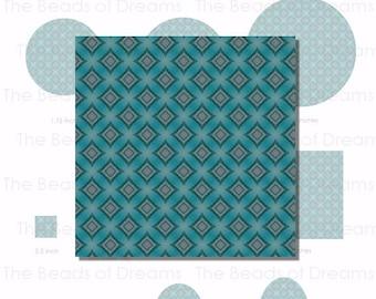 Teal square lozenge digital image - Digital collage sheet - Printable Instant download for cameo - pdf jpg png - INSTANT DOWNLOAD (cs0116)