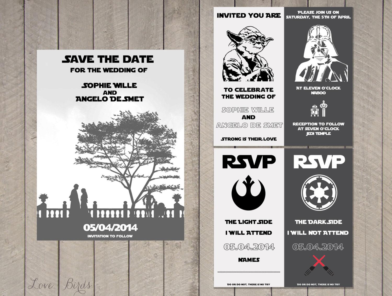 Wedding invitation Set Star Wars Save the Date Invitation
