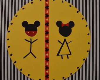 Mickey Party Bathroom Sign