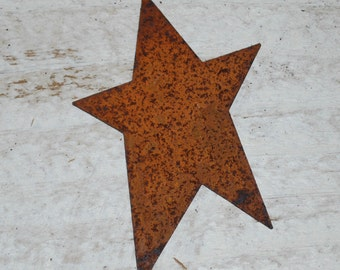 "3"" Rusty Tin Stars ... set of 12 primitive Stars .. scrapbook, craft embelllishments"