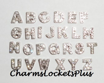 "Floating Rhinestone Letter ""C"" Charm for glass lockets"