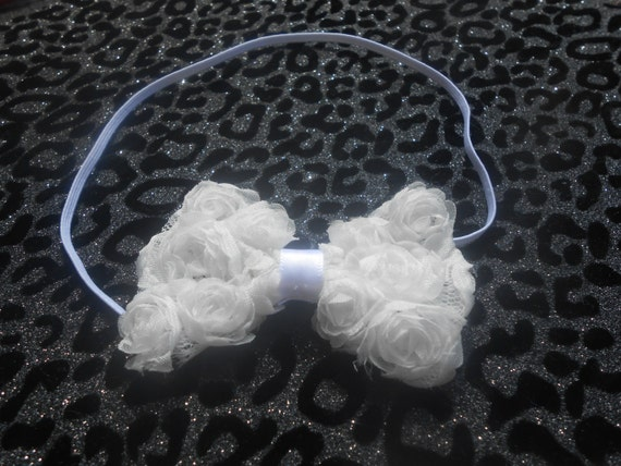 White Bow Baby Headband, Newborn Headband,  Infant Headband,Baby Headband, Headband Baby, Baby Headband