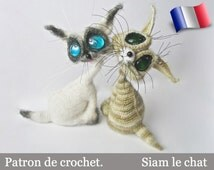 010e Siam the cat! Amigurumi crochet pattern. PDF file. By Pertseva Etsy