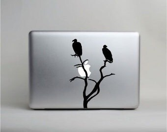 Vulture macbook pro skin vinyl decal sticker © 2013 Laced Up Decals SKU:Vulture on Mac 33