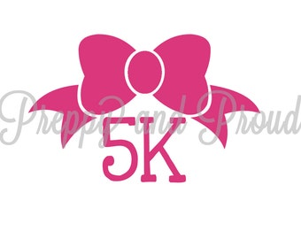 5K  Running Decal Sticker with Bow
