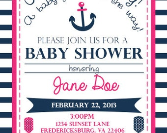 Anchors Away Baby Shower Invite!