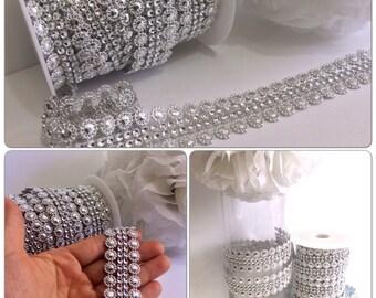 2 yards Victorian Elegant DIAMOND MESH- flowers diamond mesh
