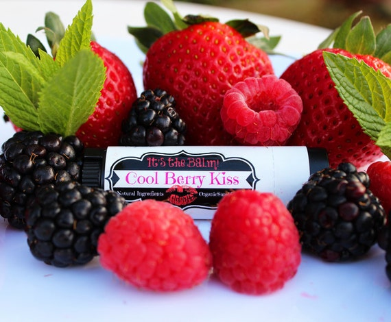 Natural Lip Balm - Cool Berry Kiss